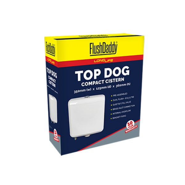 FlushDaddy LongLife Top Dog Exposed Cistern Box